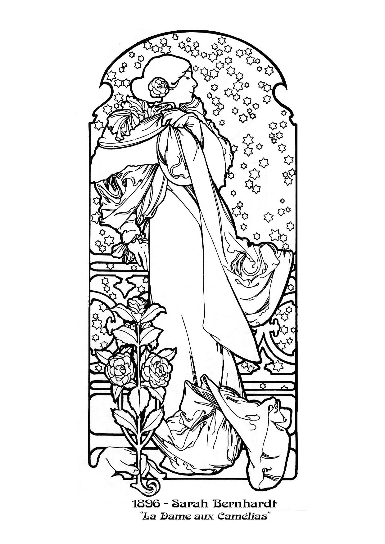 Alphonse Mucha Coloring Pages Alfons Mucha - Figurative Designs