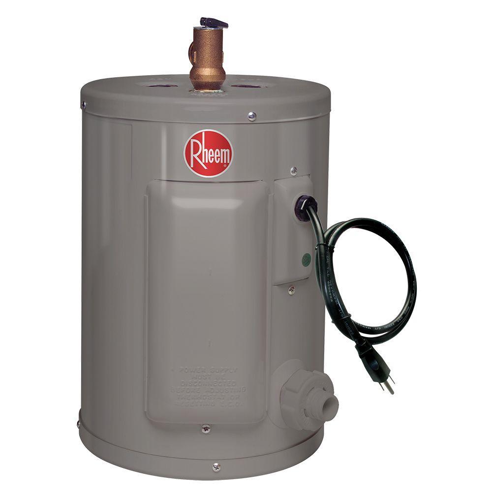Rheem Performance 2 5 Gal 6 Year 1440 Watt Single Element Electric Point Of Use Water Heater Xe02p06pu14u0 Water