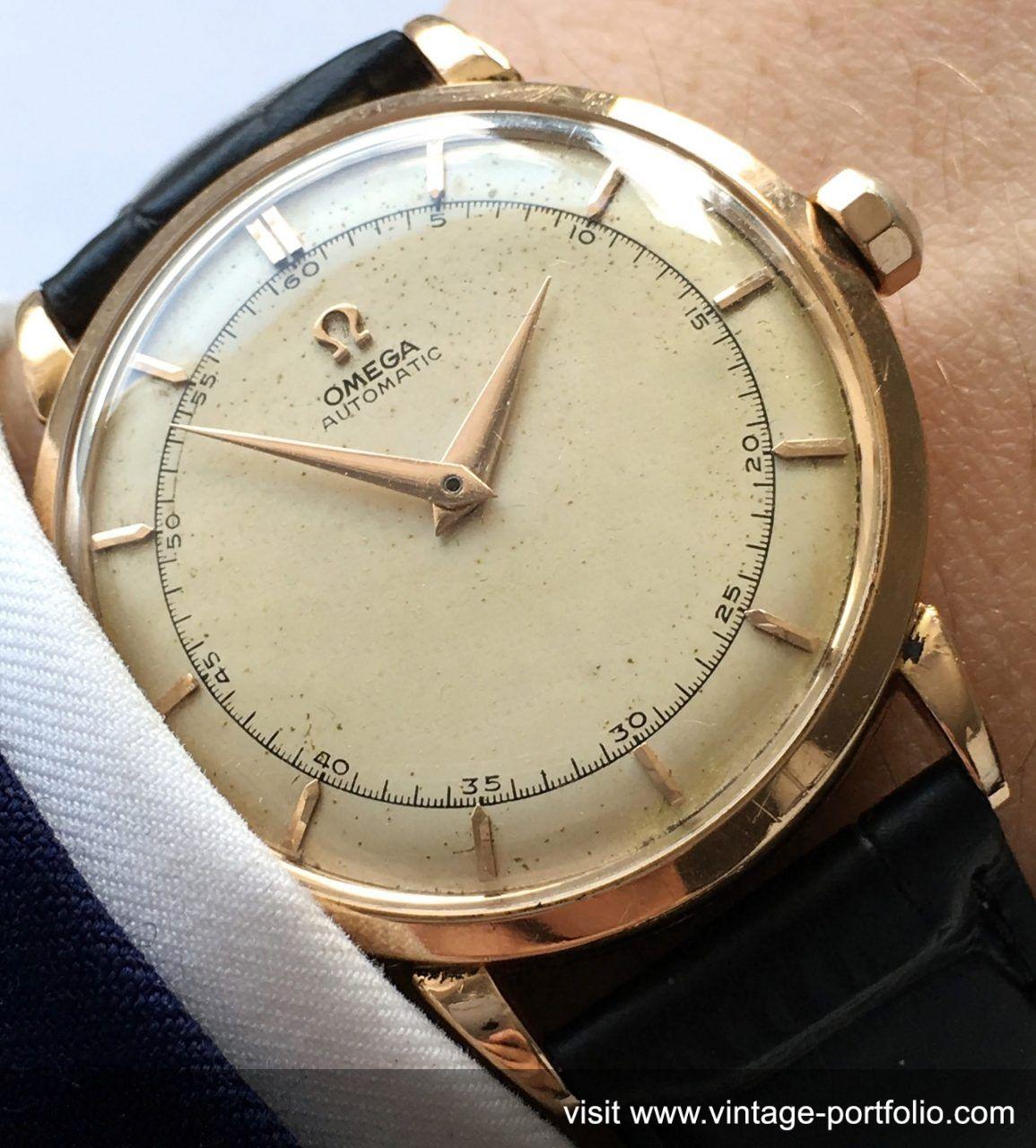 35mm pink gold omega bumper vintage automatic watches pinterest uhren herrenuhren und armband. Black Bedroom Furniture Sets. Home Design Ideas