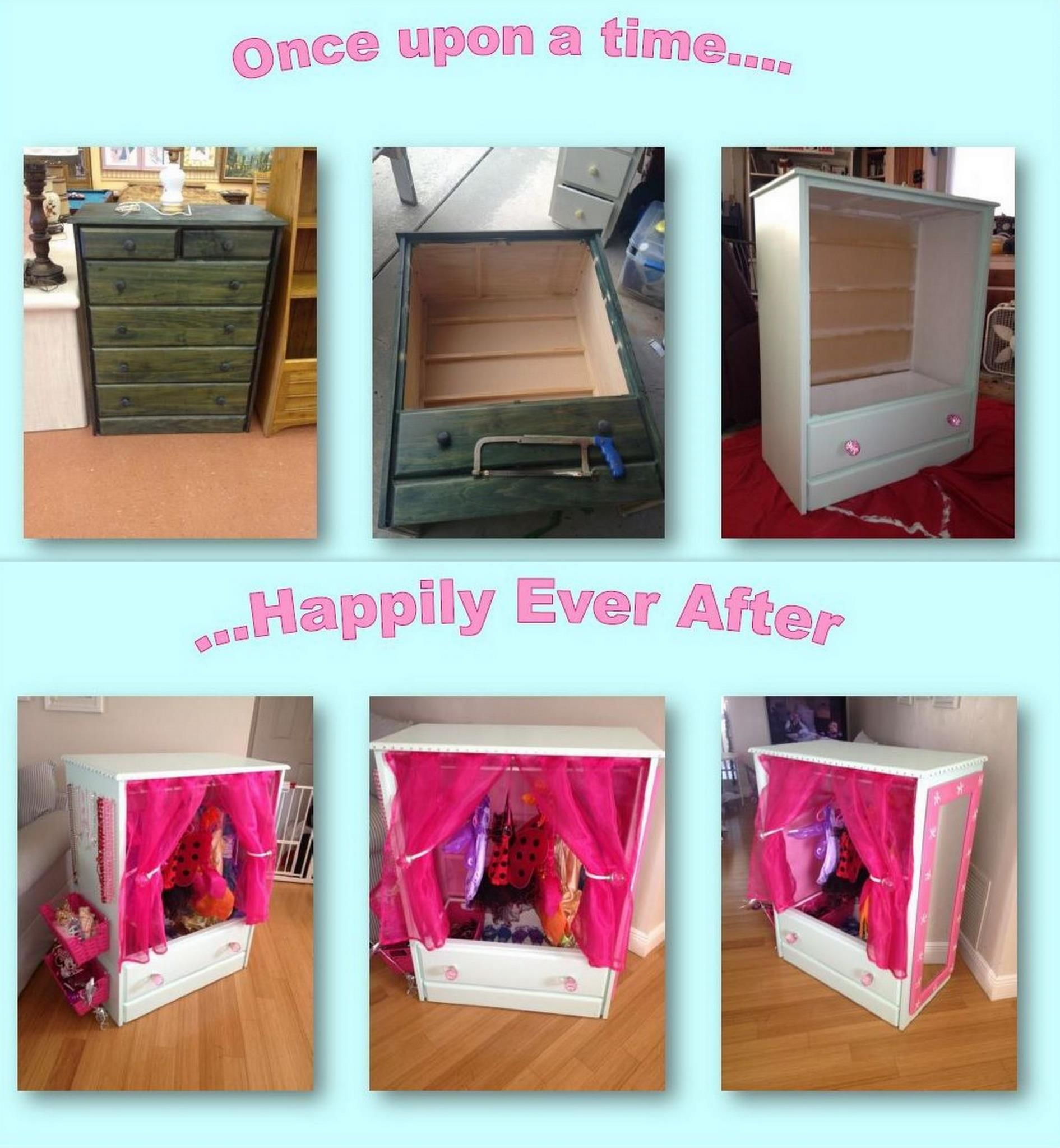 Princess Toys Box Storage Kids Girls Chest Bedroom Clothes: Don't Throw Out Those Old Wooden Dressers.. Make A Kid's