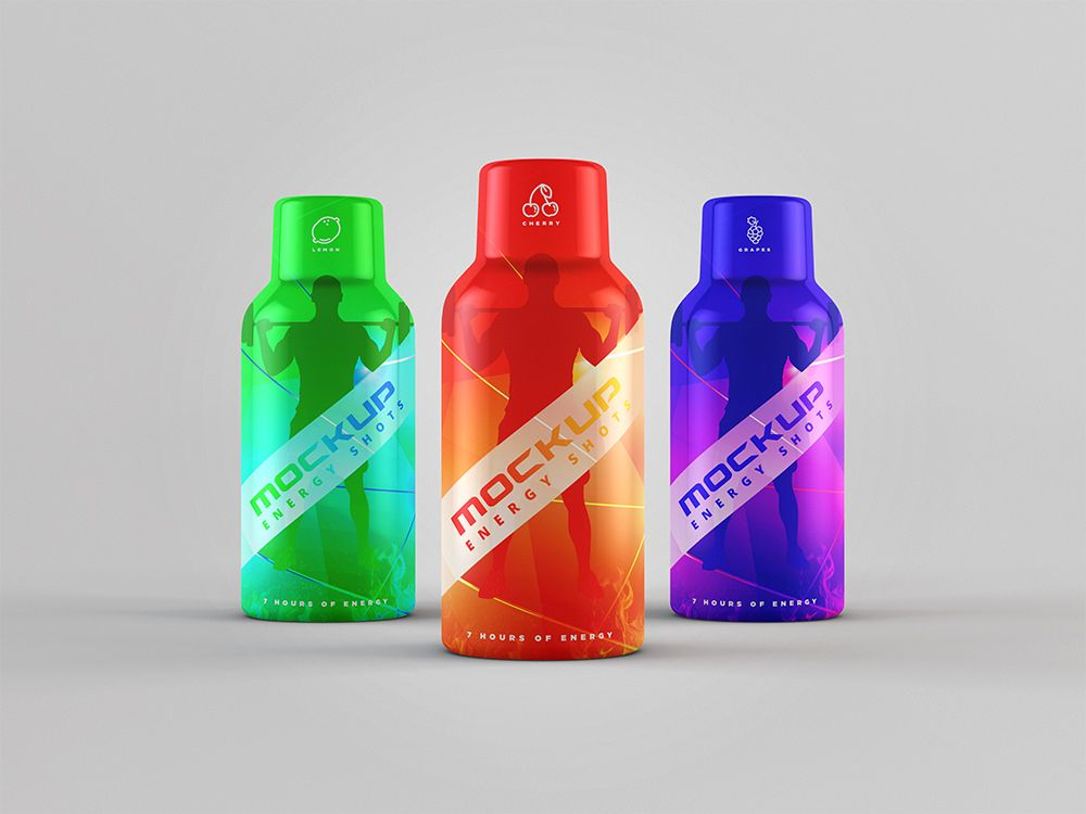 Energy Shot Energy Drink Mockup Drinks Packaging Design Energy Shots Drinks