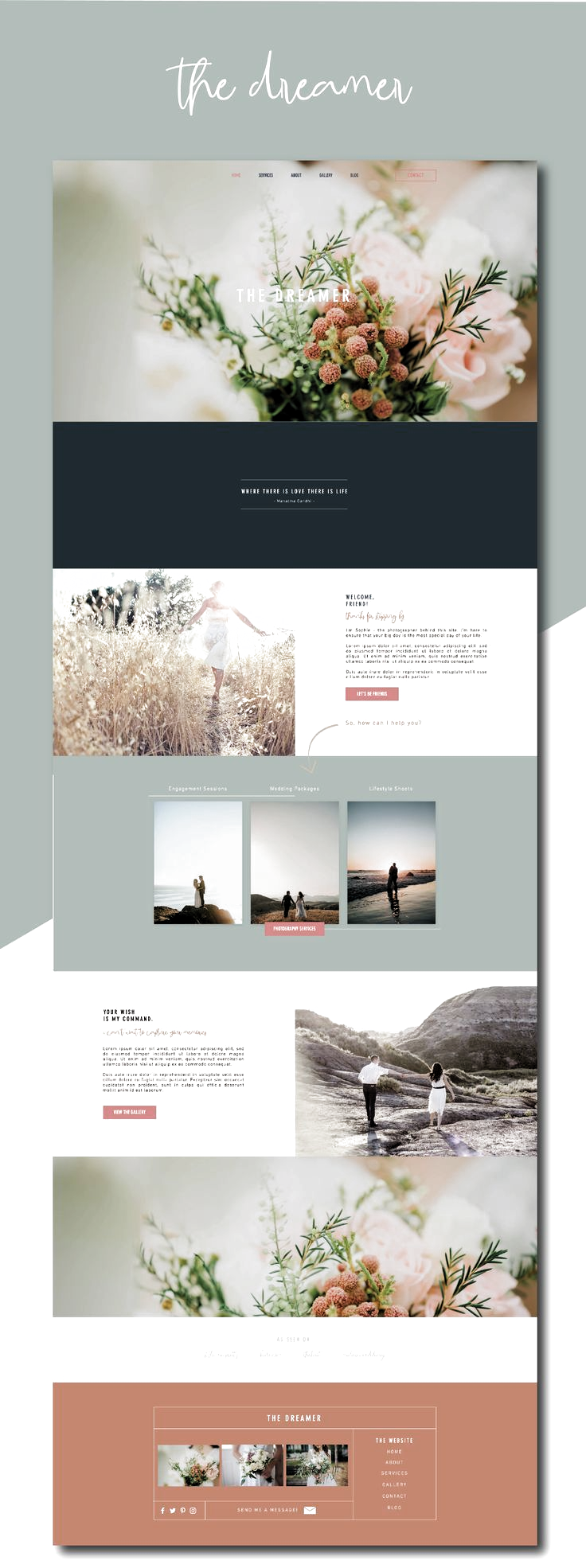 Pre Made Wix Website Design Are You A Photographer This Wix Website Template Is Perfect For You Beautiful M In 2020 Website Design Webshop Design Website Templates