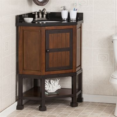 Boston Loft Furnishings Elkins Corner Vanity Sink With Granite Top The Mine Corner Vanity Sink Corner Bathroom Vanity Corner Bath