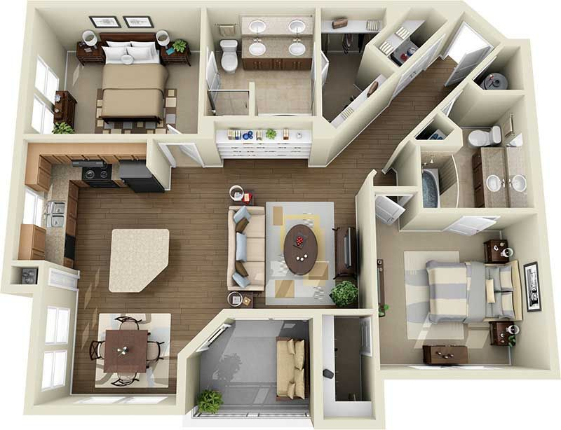 Pin von catilyn cairns auf houses apartments layouts - Cheap one bedroom apartments in california ...
