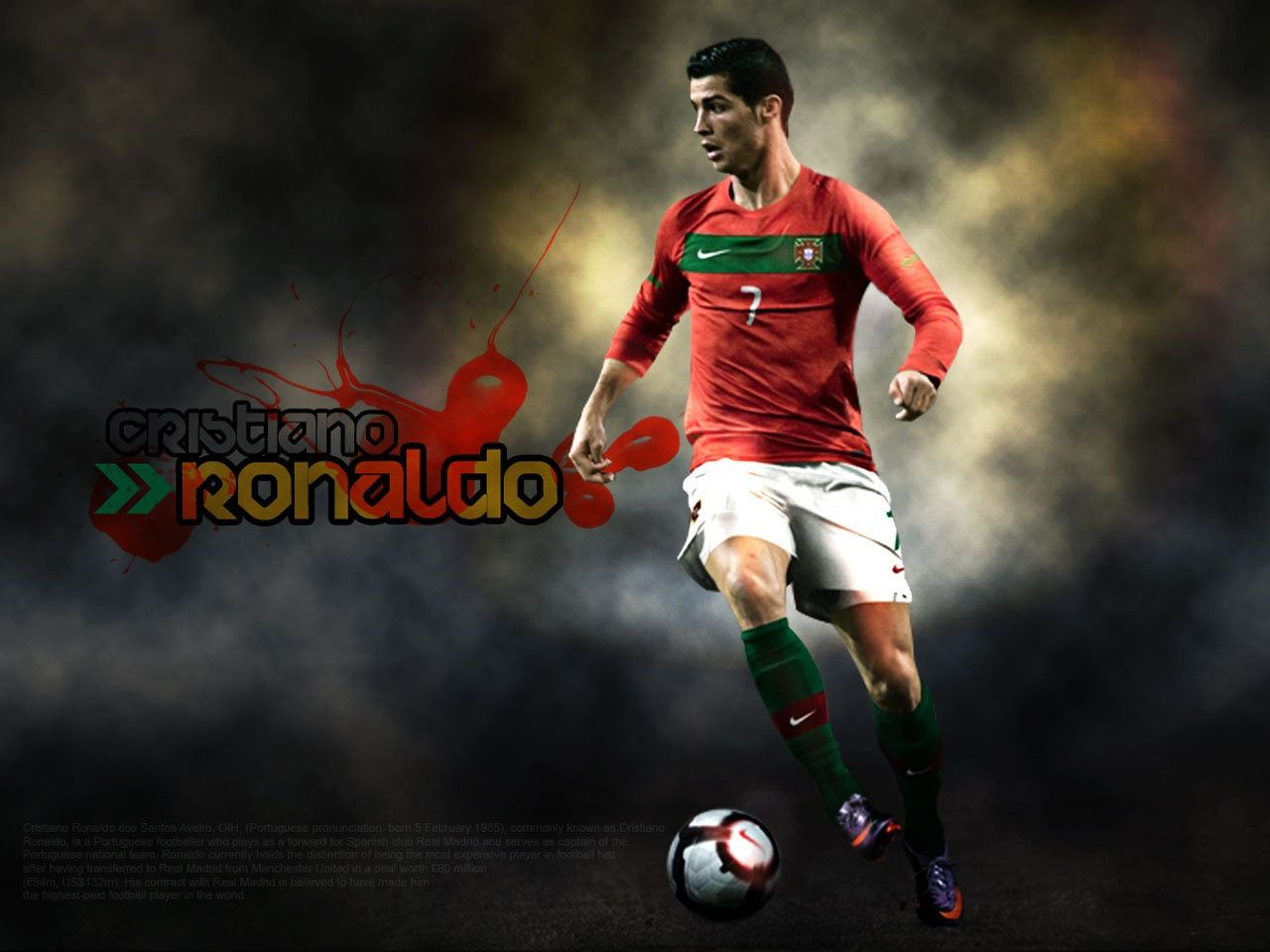 gold painting of cristiano ronaldo hd desktop wallpaper 1918×1078