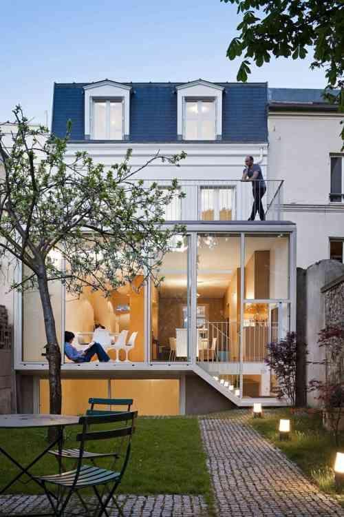 Idée agrandissement maison  50 extensions esthétiques Extensions - Idee Facade Maison Moderne