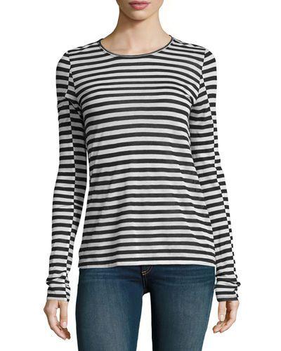 2386e15dcd RAG & BONE ARROW STRIPED LONG-SLEEVE T-SHIRT, BLACK/WHITE. #ragbone #cloth #