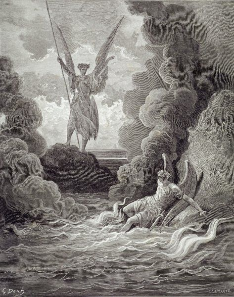 Gustave Dore Satan And Beelzebub From The First Book Of Paradise