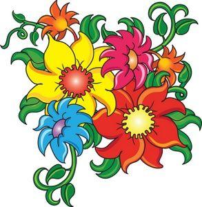 Cartoon Flowers Clip Art Flowers Clip Art Images Flowers Stock