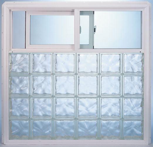 Seattle Glass Block Prefabricated Vinyl Frame Glass Block Exterior ...