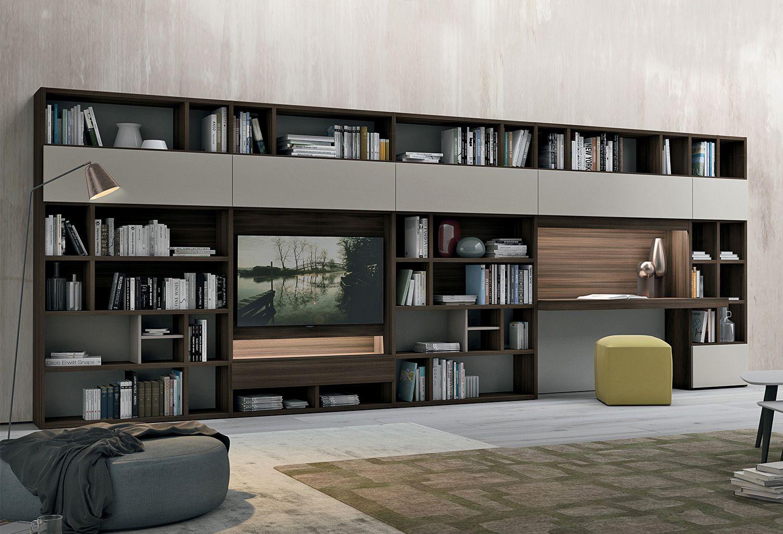 Meuble Tv Avec Bibliothèque bibliothèque bureau intégré design Élégant meuble