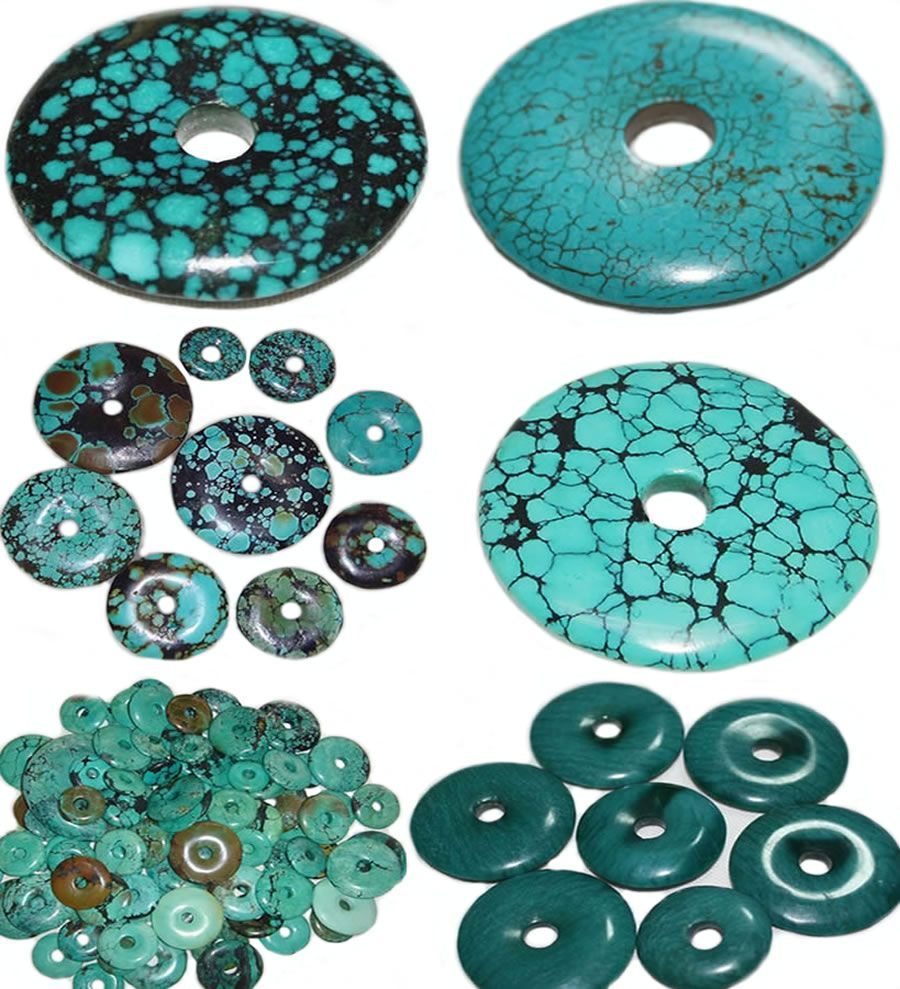 Hot Item Turquoise Natural Button Jewelry | Types of ...