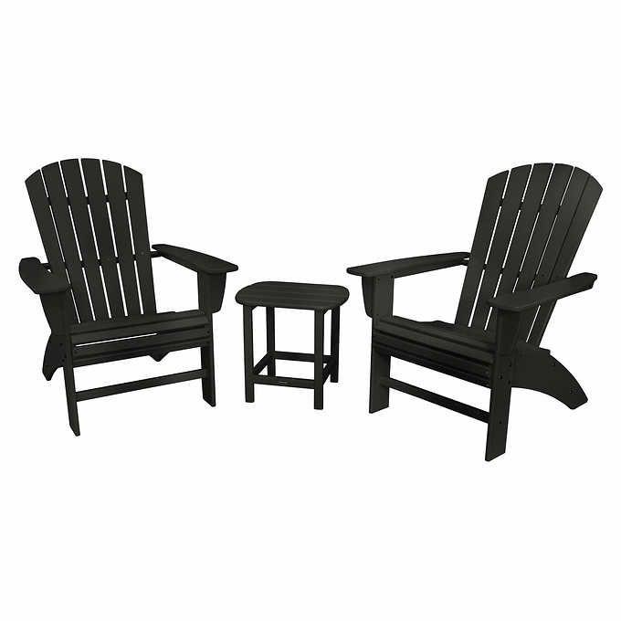 Prescott Shellback Adirondack Set By Plywood Patio Furniture Pinterest Costco And Patios