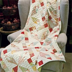 Café Paris: Easy Feminine One-Block Layer Cake Lap Quilt Pattern ... : layer cake friendly quilt patterns - Adamdwight.com