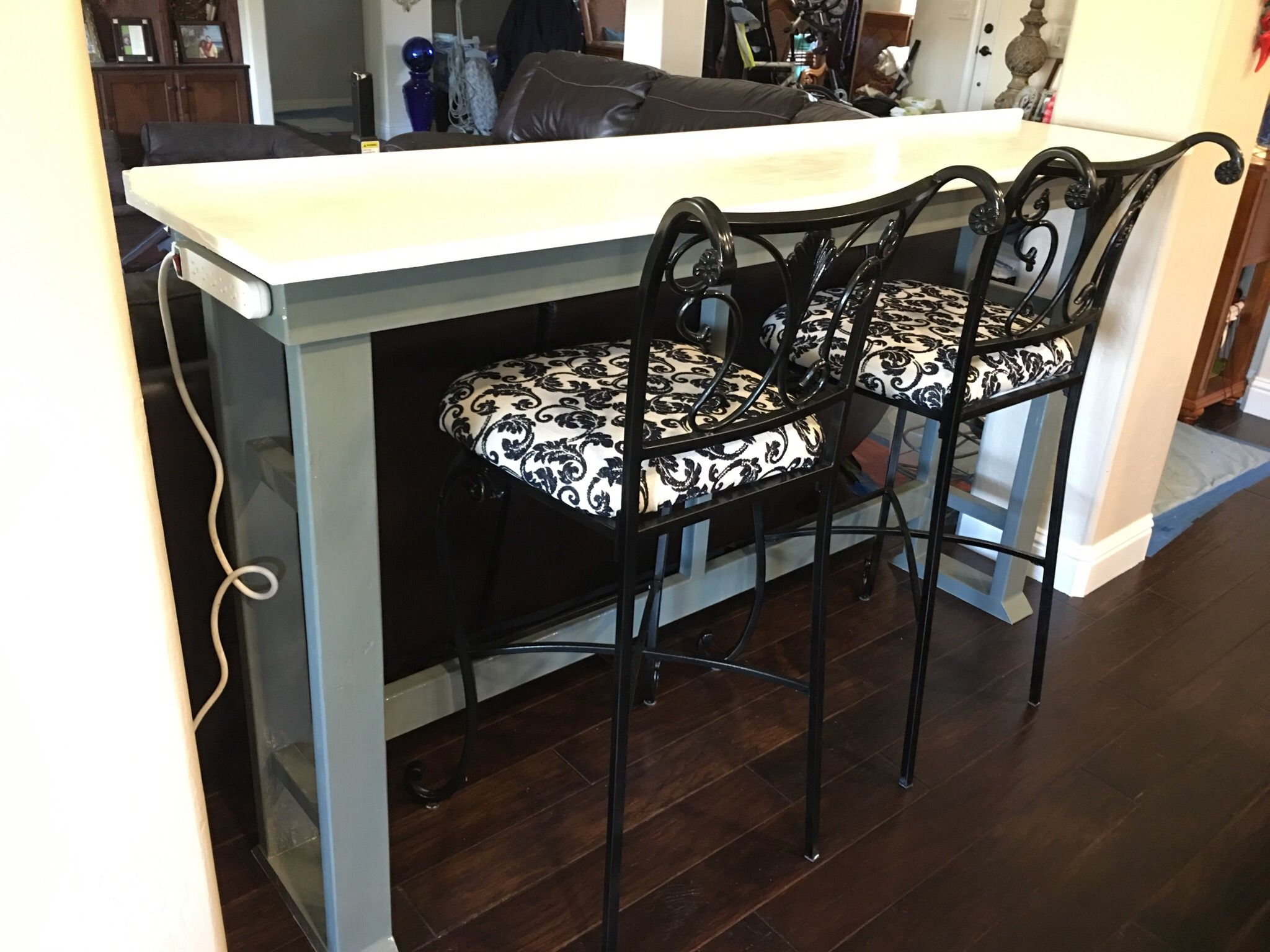 Behind Sofa Table Bar Work Desk Do It Yourself Home Projects From Ana White Bar Table Behind Couch Diy Sofa Table Bar Behind Couch