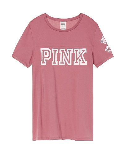 Perfect Crew Tee PINK | All VS PINK Clothes | Pinterest | Crews ...