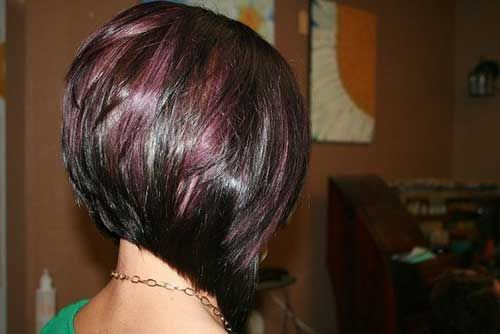 Wine toned wedge popular short hairstyles inverted bob and wine toned wedge purple highlightsshort dark brown hair pmusecretfo Choice Image