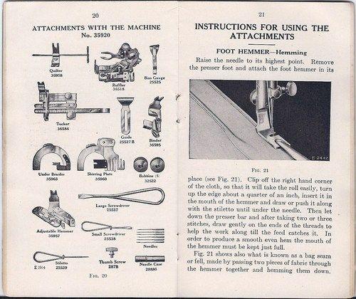 Antique 1916 Singer Model 66 u0027Redeyeu0027 Treadle Sewing Machine - instruction manual