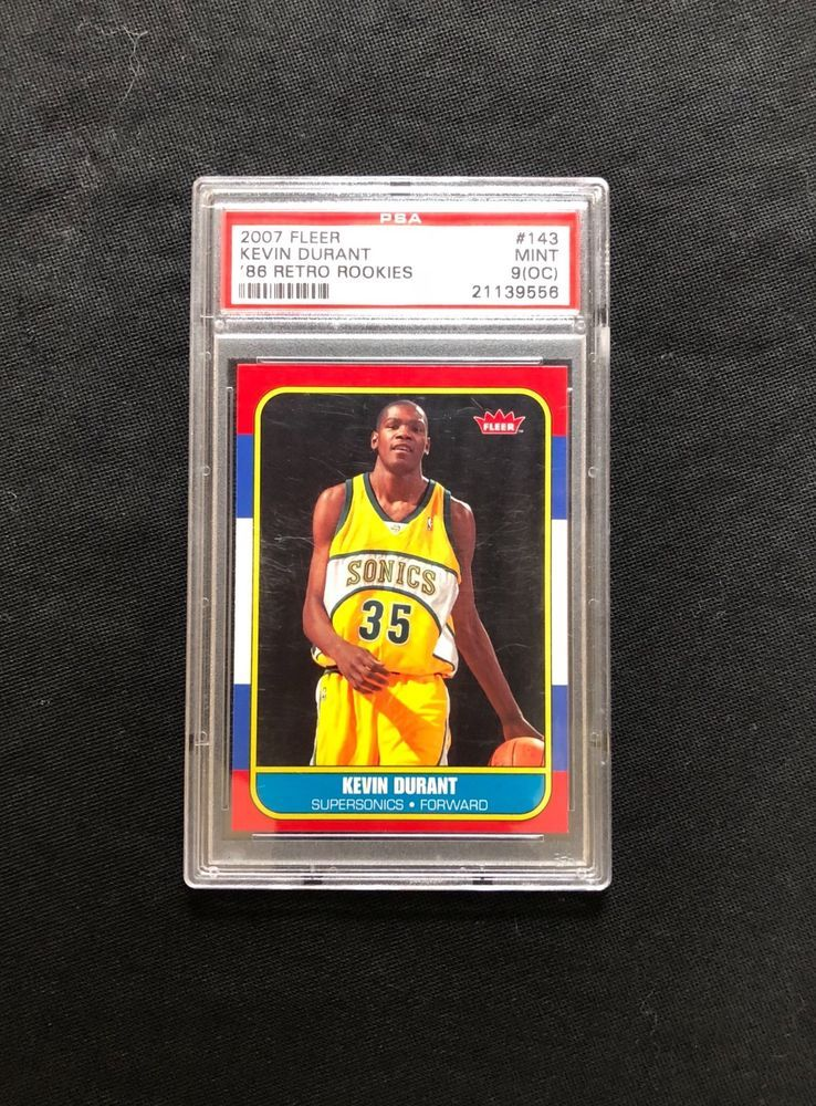 Kevin Durant 2007 Fleer 1986 Sp Rookie Card Rc Psa 9 Mint