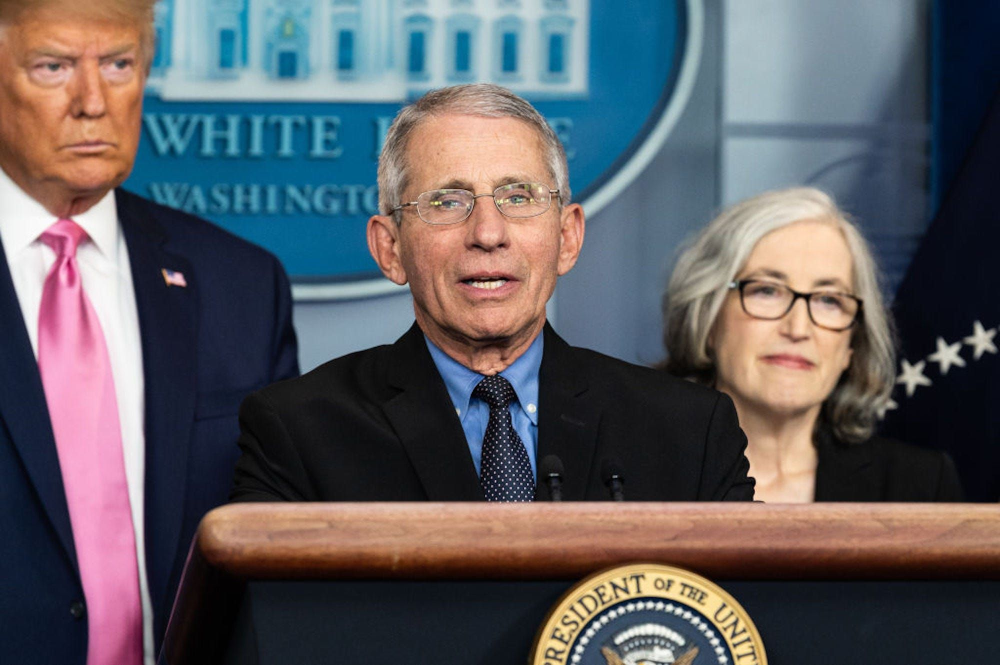 Anthony Fauci who the Trump administration barred from