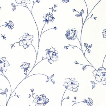 esta home tapete blumenranke blau beautiful wallpaper tapeten tapeten blumenranken und blumen. Black Bedroom Furniture Sets. Home Design Ideas