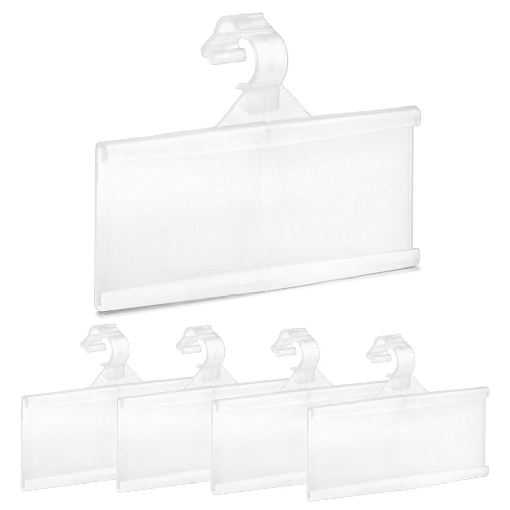 Spiegel 180x60 100-pack Label Holder Plastic Strips Price Tag For Wire Shelf Warehouse 3\