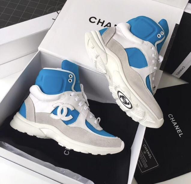 Chanel Inspired 2018 Hi Top Sneakers Celebrity Inspiracion