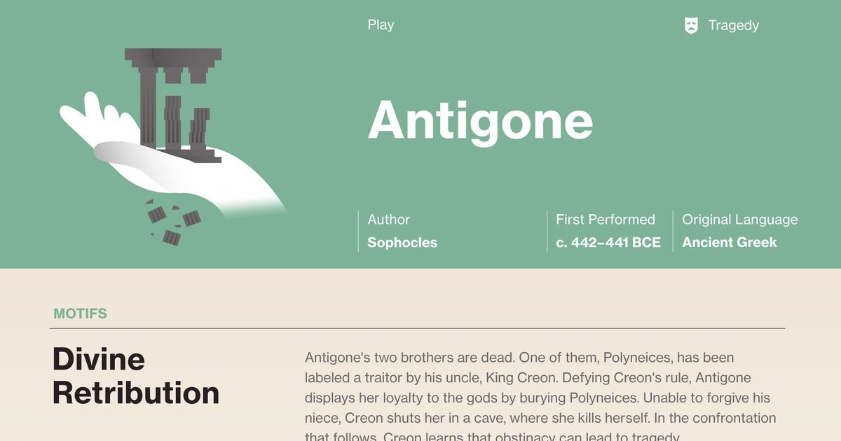 This Study Guide And Infographic For Sophocles Antigone The