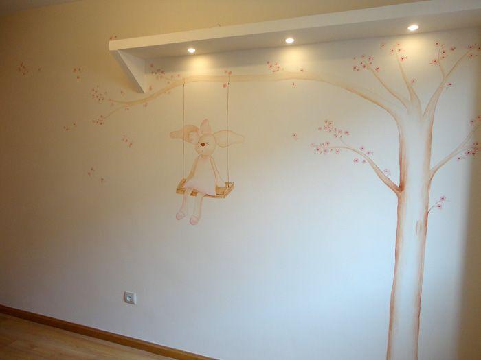 Tiernos conejitos y ratoncitos para tu bebe murales for Decoracion paredes habitacion bebe nina