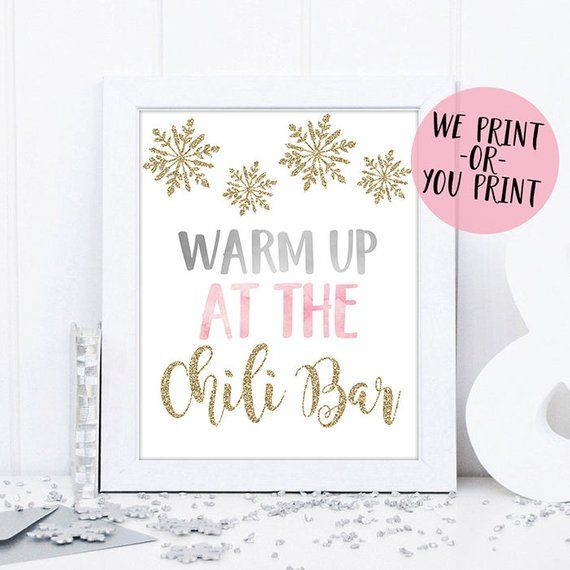 Chili Bar Sign, Winter Onederland Birthday, Winter Chili Bar Sign, Winter Onederland Sign, Winter Onderland Party