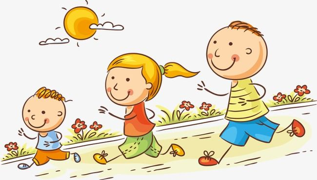 Dibujos De Niños Corriendo