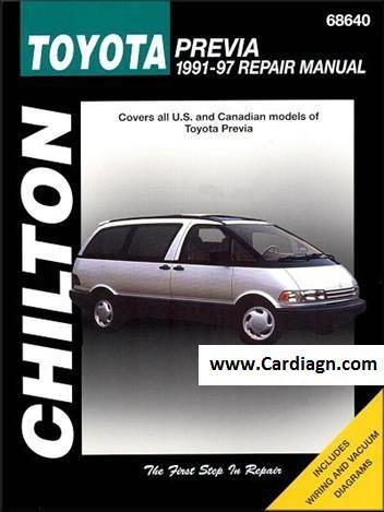 toyota previa tarago 1991 1997 service toyota estima pr via rh pinterest com Toyota Camry Repair Manual Toyota Engine Diagram