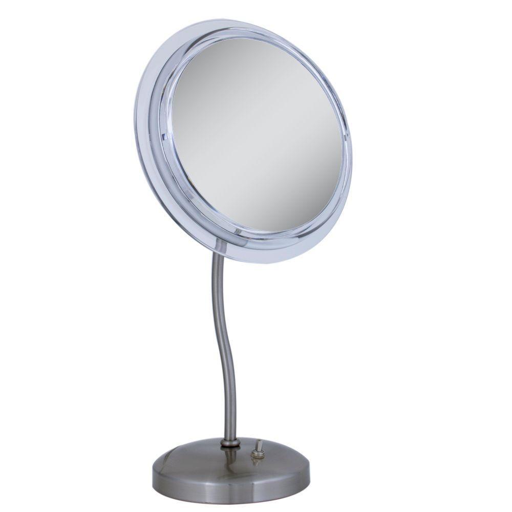 Zadro Surround Light 6x S Neck Vanity Makeup Mirror In Satin