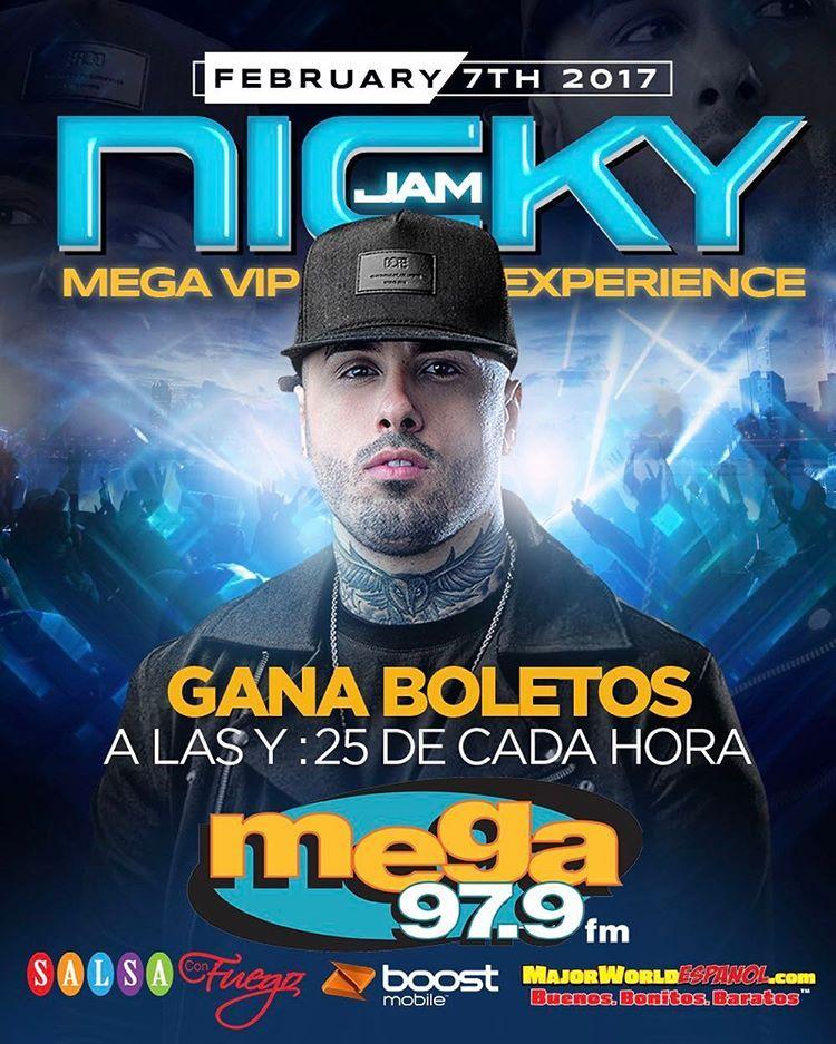Mega 97.9 comienza el año con súper evento privado con #NickyJam. Celebrando el  Instagram