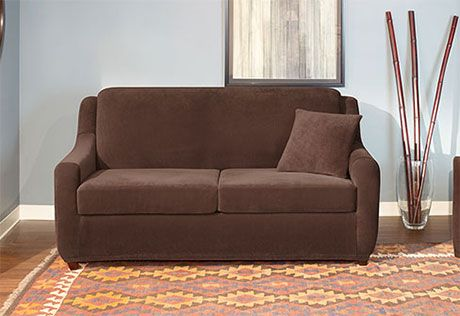 Surprising Sure Fit Slipcovers Stretch Pearson 2 Seat Sleeper Sofa 2 Gmtry Best Dining Table And Chair Ideas Images Gmtryco