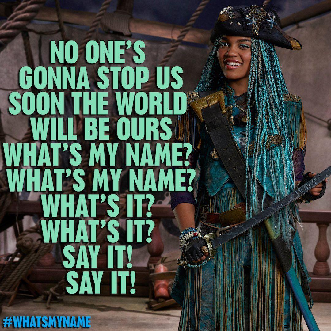 """Get ready Auradon.. What's My Name? #Uma #WhatsMyName # ..."