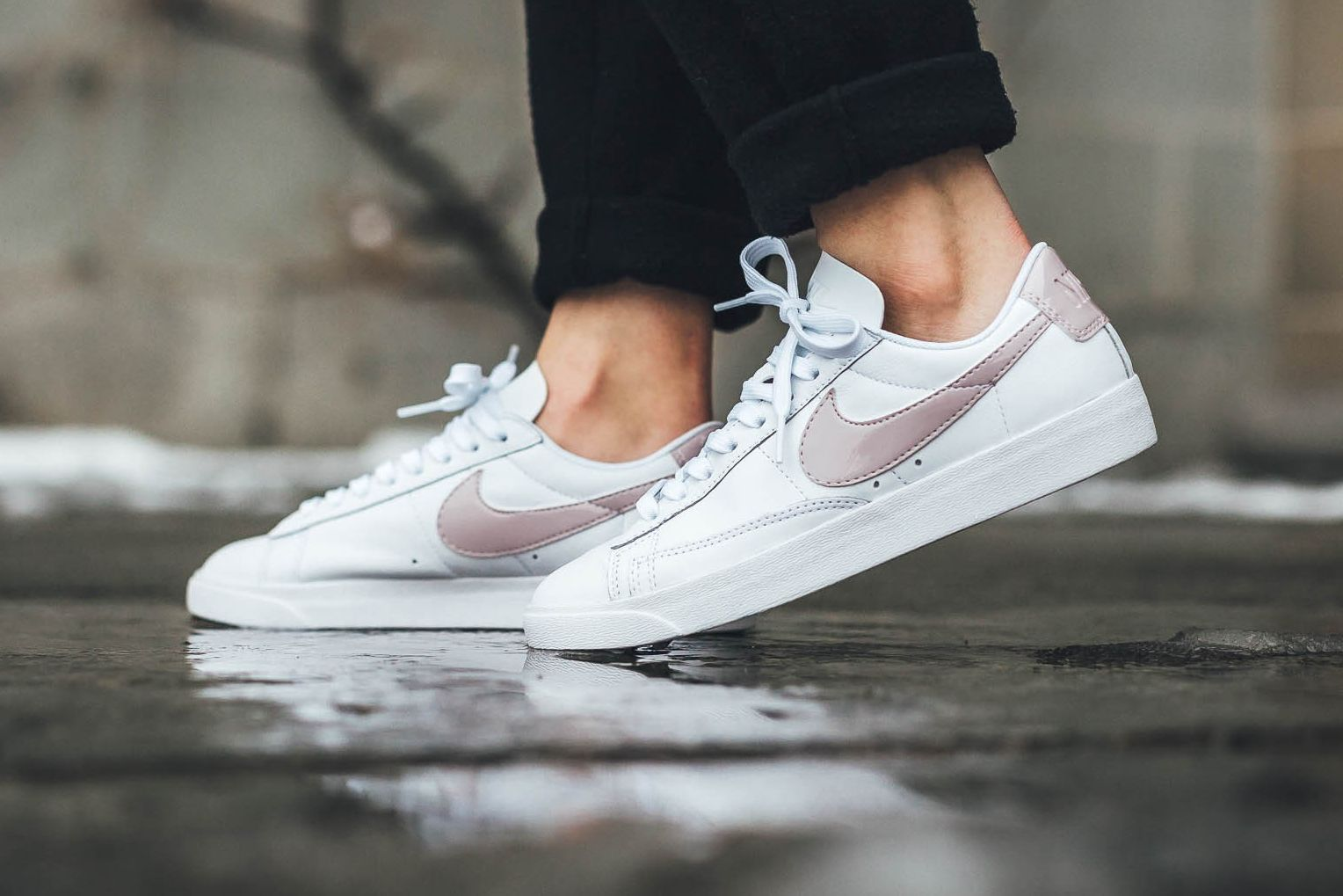 0bdbaf7dee81 Nike s Blazer Low Swooshes by in Barely There Pink