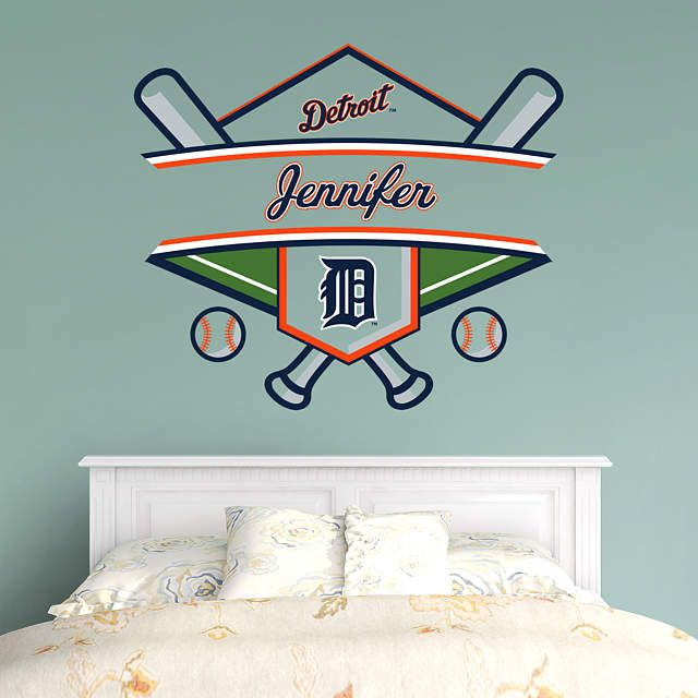 new styles 36c1e 12f03 Detroit Tigers: Personalized Name - Giant MLB Transfer Decal ...