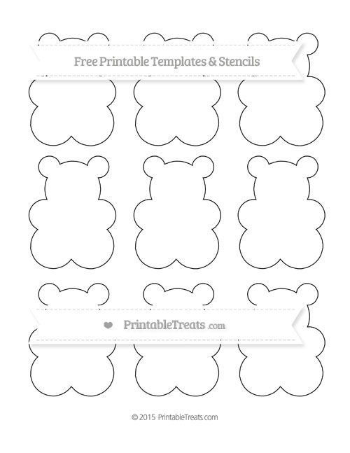 Free Printable Small Gummy Bear Template Shapes And Templates