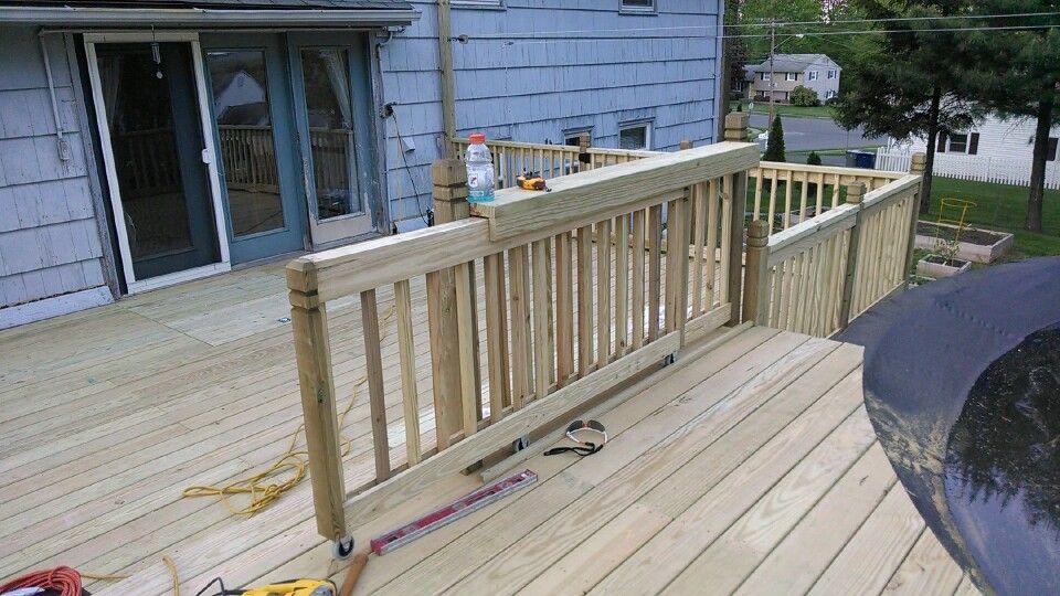 Sliding Gate At Pool Deck Deck Gate Patio Railing Pool Gate