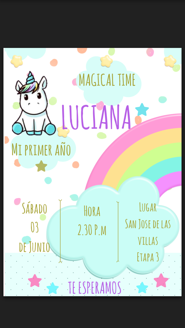 Tarjeta unicornio lindo Puzzle, Word search y Diagram