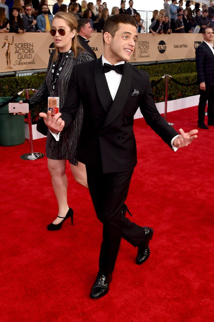 Pin for Later: Rami Malek Was More Adorable Than Ever at the SAG Awards He proved that family is everything.