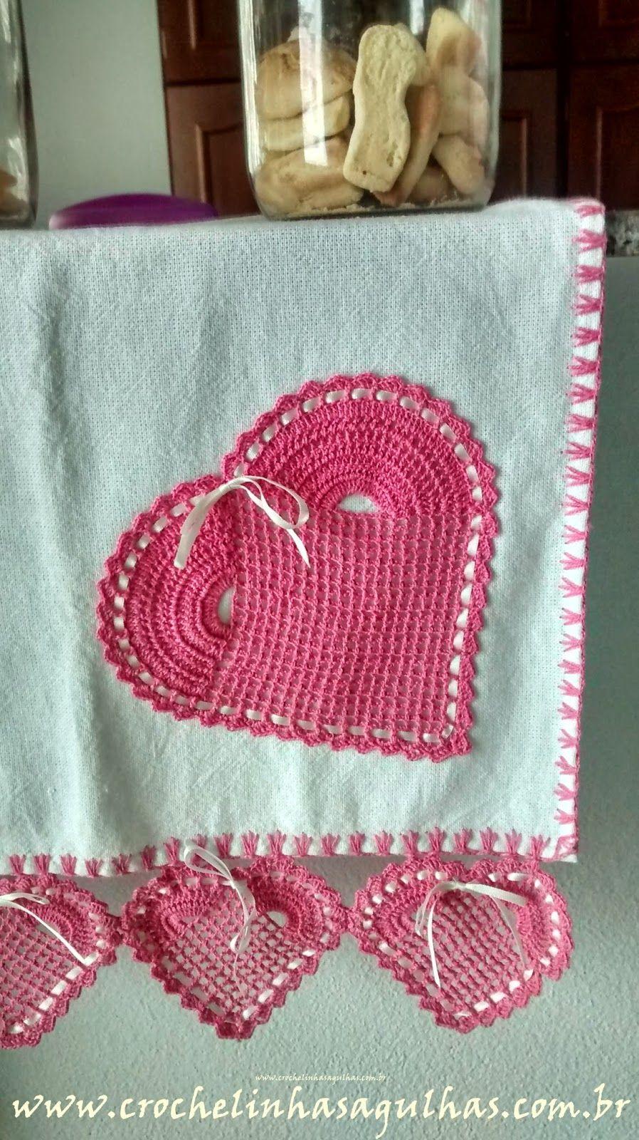 Crochelinhasagulhas Bico De Croche Em Forma De Coracao Com