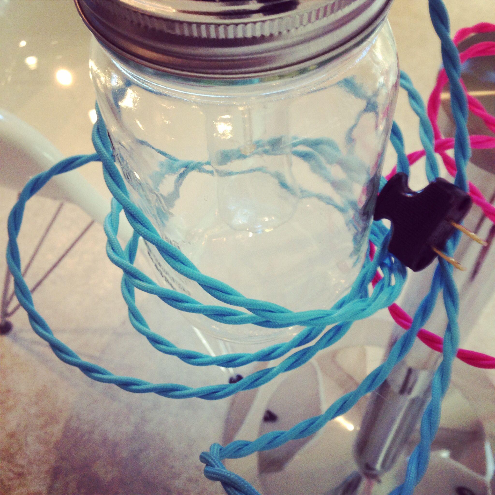 Upcycled mason jar pendant light