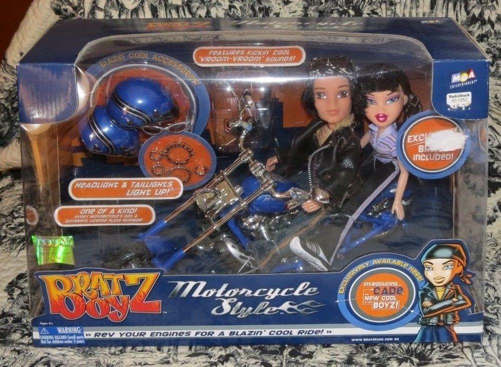 Bratz Boyz Lights And Sound Motorcycle Style Dolls Cade Jade Rare 2 Dolls Nrfb Motorcycle Style Cade Style