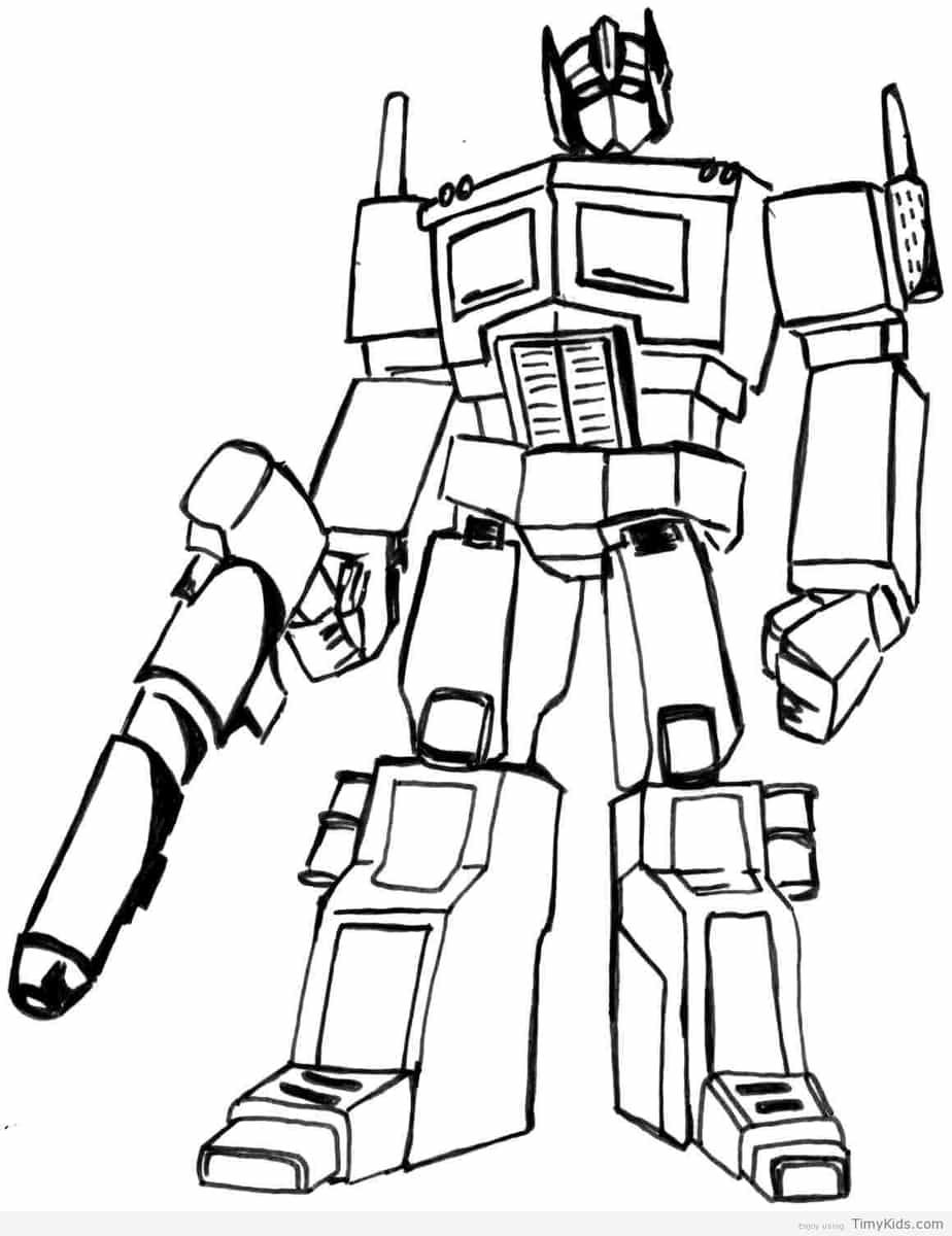 Timykids Transformer Colouring Page Transformers