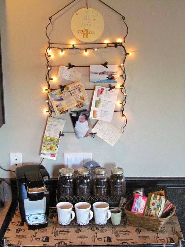 love the idea of this coffee bar!