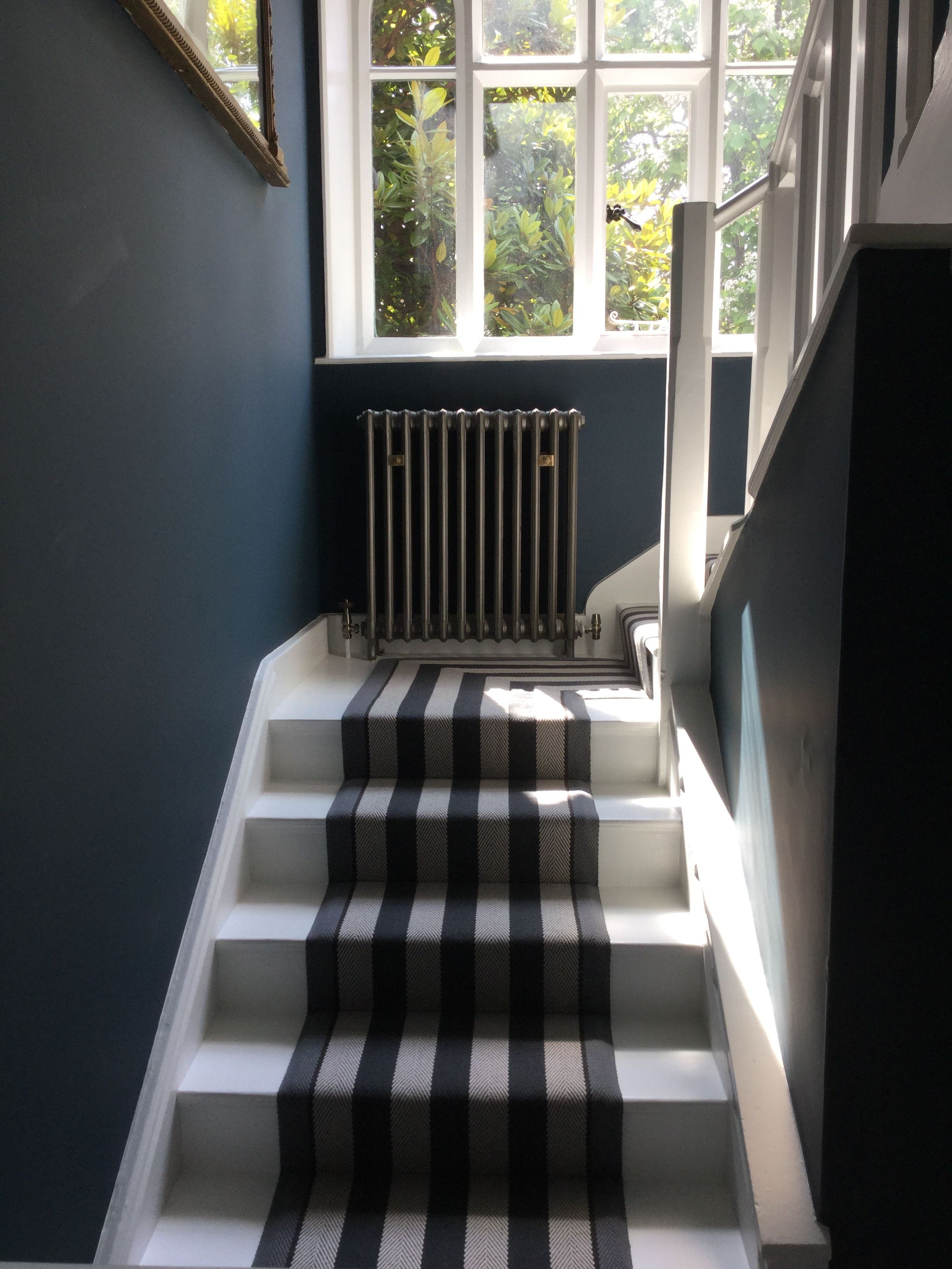 Farrow And Ball Hague Blue Walls And Strong White Woodwork Roger