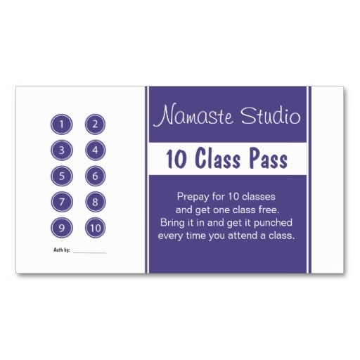Yoga Business Card 10 Class Pass Template Zazzle Com Yoga Business Card Templates Free Customizable Business Cards