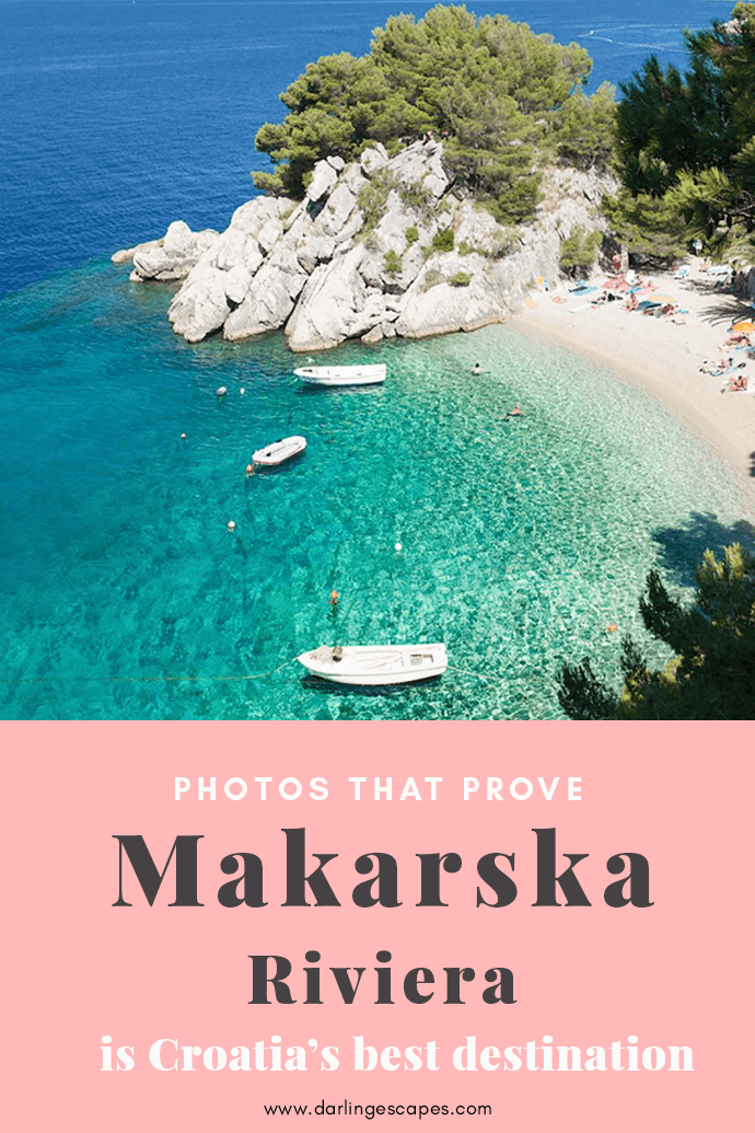 Looking for the best destinations in Croatia? You'll love everything about the Makarska coast, with it's swoon-worthy beaches and cliff-side villages, Makarska is truly Croatia's secret paradise! #Croatia
